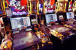 Sangokushi Taisen card game arcade slot machines in Tokyo, Japan