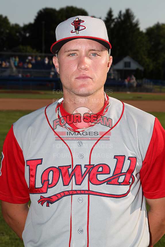 Lowell Spinners third baseman Kolbrin Vitek (3) poses for a photo before a game vs. the Batavia Muckdogs at Dwyer Stadium in Batavia, New York July 16, 2010.   Batavia defeated Lowell 5-4 with a walk off RBI single.  Photo By Mike Janes/Four Seam Images