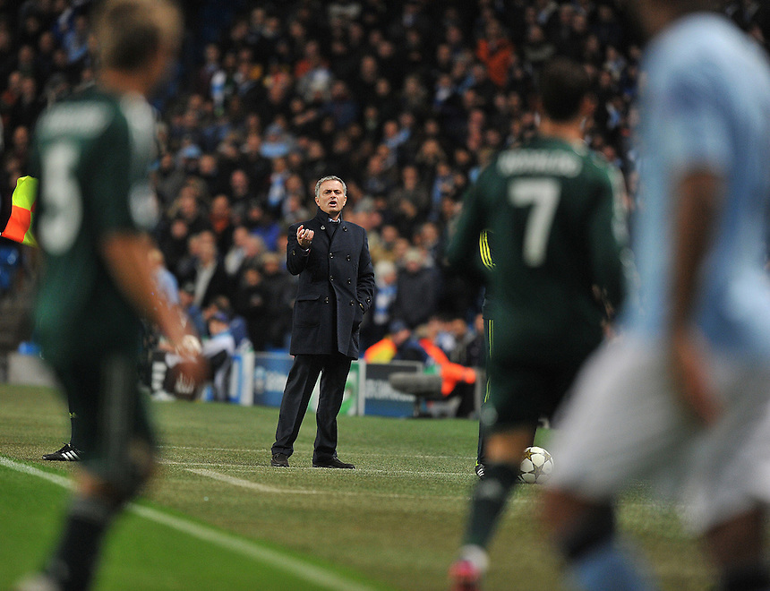 Real Madrid's Manager Jose Mourinho ..Football - UEFA Champions League Group D - Manchester City v Real Madrid  - Wednesday 21st November 2012 - Etihad Stadium - Manchester..
