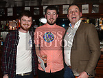 Robert McCormack celebrating his 18th birthday in The Venue at McHugh's with cousins Ciaran Cassidy and Jason Finnegan. Photo:Colin Bell/pressphotos.ie