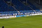 Transparent der SV Waldhof Fans beim Spiel in der 3. Liga, SV Waldhof Mannheim - KFC Uerdingen 05.<br /> <br /> Foto © PIX-Sportfotos *** Foto ist honorarpflichtig! *** Auf Anfrage in hoeherer Qualitaet/Aufloesung. Belegexemplar erbeten. Veroeffentlichung ausschliesslich fuer journalistisch-publizistische Zwecke. For editorial use only. DFL regulations prohibit any use of photographs as image sequences and/or quasi-video.