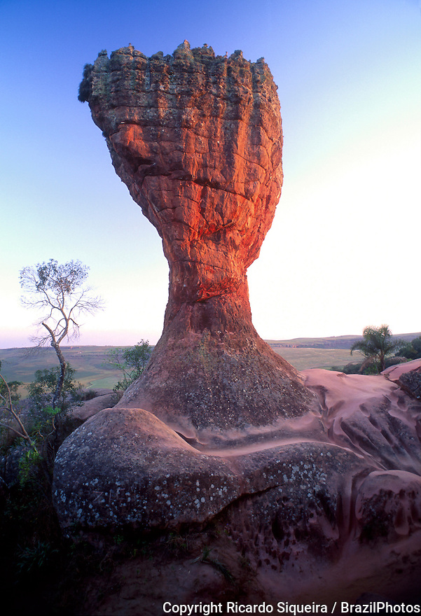 Rock formations at Parque Estadual de Vila Velha ( Vila Velha State park ), in Ponta Grossa, Parana State, South Brazil.