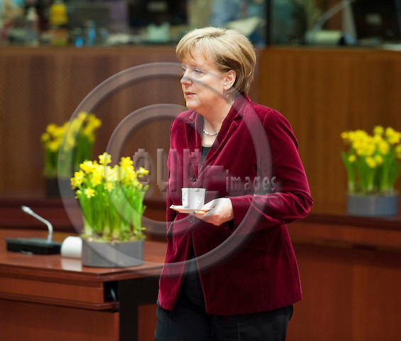 Brussels-Belgium - March 25, 2011 -- 2nd day of the European Council, EU-summit with Heads of State / Government; here, Angela MERKEL, Federal Chancellor of Germany -- Photo: Horst Wagner / eup-images