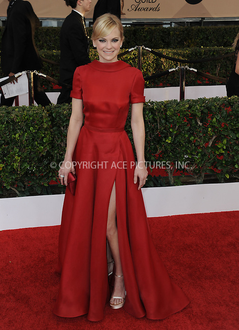 WWW.ACEPIXS.COM<br /> <br /> January 30 2016, LA<br /> <br /> Anna Faris arriving at the 22nd Annual Screen Actors Guild Awards at the Shrine Auditorium on January 30, 2016 in Los Angeles, California<br /> <br /> By Line: Peter West/ACE Pictures<br /> <br /> <br /> ACE Pictures, Inc.<br /> tel: 646 769 0430<br /> Email: info@acepixs.com<br /> www.acepixs.com
