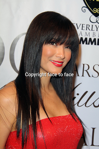 BEVERLY HILLS, CA - February 05: Kelly Hu at Experience East Meets West honoring Beverly Hills' momentous centennial year, Crustacean, Beverly Hills, February 05, 2014. Credit: Janice Ogata/MediaPunch Inc.<br />
