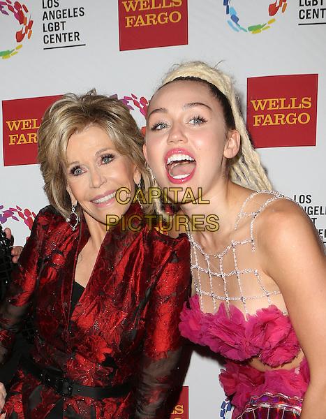 Century City, CA - November 07  Jane Fonda, Miley Cyrus Attending 46th Anniversary Gala Vanguard Awards - Arrivals At the Hyatt Regency Century Plaza On November 07, 2015. <br /> CAP/MPI/FS<br /> &copy;FS/MPI/Capital Pictures