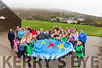 Scoil Crochan Naofa Caherdaniel celebrate their Active Schools Flag with Waterville Golfer David Higgins on Tuesday pictured front with David the school committee behind the achievement l-r; Ciara Foley, Neil Hyland, Óisín Breen, Ellie Cournane & Cillian O'Sullivan.