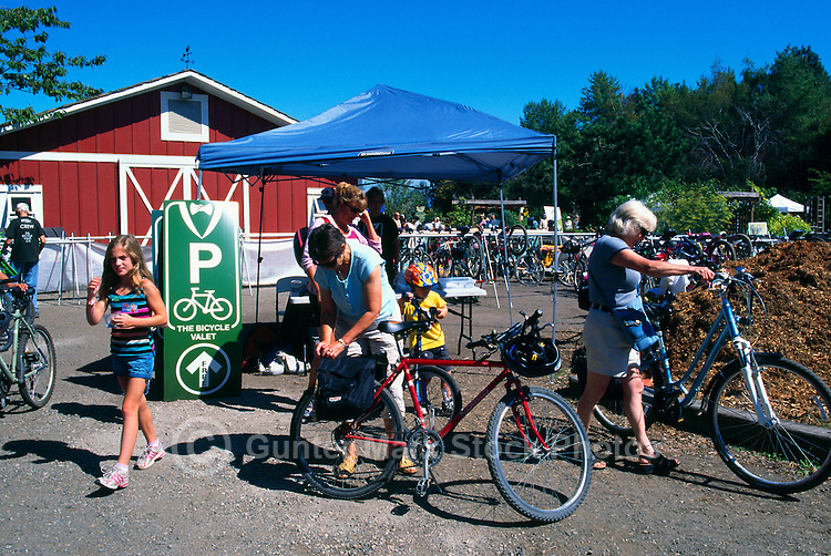 5th Annual Garlic Festival, August 2013 (hosted by The Sharing Farm) at Terra Nova Rural Park, Richmond, BC, British Columbia, Canada - Secure Bike Parking at the Bicycle Valet