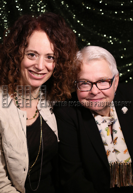 Rebecca Taichman and Paula Vogel  attends the 2017 Tony Awards Meet The Nominees Press Junket at the Sofitel Hotel on May 3, 2017 in New York City.