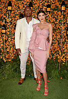 PACIFIC PALISADES, CA - OCTOBER 06: Larry English and Nicole Williams arrive at the 9th Annual Veuve Clicquot Polo Classic Los Angeles at Will Rogers State Historic Park on October 6, 2018 in Pacific Palisades, California.<br /> CAP/ROT/TM<br /> &copy;TM/ROT/Capital Pictures