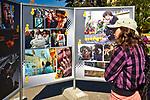 Wystawa fotografii na Placu Jana Pawła II w Wadowicach, Polska<br /> Exhibition of photographs at John Paul II Square in Wadowice, Poland