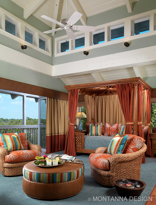 The cabana bed was designed for relaxing and watching videos or as a comfy overnight retreat for guests.