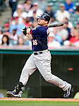 5 September 2009: Minnesota Twins' designated hitter Jason Kubel in action against the Cleveland Indians at Progressive Field in Cleveland, Ohio. The Twins defeated the Indians 4-1 in the second game of their three-game weekend series. Mandatory Credit: Ed Wolfstein Photo