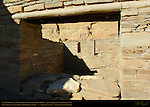 Plaza Doorway, Chetro Ketl Chacoan Great House, Anasazi Hisatsinom Ancestral Pueblo Site, Chaco Culture National Historical Park, Chaco Canyon, Nageezi, New Mexico