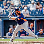 27 February 2019: Houston Astros infielder Tyler White in pre-season action against the Washington Nationals at the Ballpark of the Palm Beaches in West Palm Beach, Florida. The Nationals defeated the Astros 14-8 in their Spring Training Grapefruit League matchup. Mandatory Credit: Ed Wolfstein Photo *** RAW (NEF) Image File Available ***