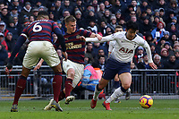 Son Heung-Min of Tottenham Hotspur and Matt Ritchie of Newcastle United during Tottenham Hotspur vs Newcastle United, Premier League Football at Wembley Stadium on 2nd February 2019