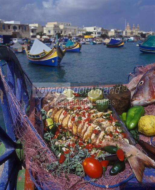 Europe/Malte/Marsaxlokk  Daurade multicolore