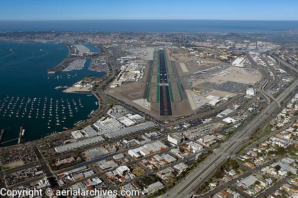 Aerial Photograph San Diego Airport California Aerial