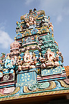 Hindu temple in town of Haputale, Badulla District, Uva Province, Sri Lanka, Asia