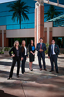 From left, the crew of Arizona Management Partners, Megan Coe,  Jamie Parker, Katie Castignetti, Jesus Apodaca and Scott Clayton.