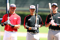 August 18 2008:  Left to Right:  Josh Elander, Stephen Perez, and Jayce Boyd during the 2008 Under Armour All-American Game at Wrigley Field in Chicago, IL.  Photo by:  Mike Janes/Four Seam Images