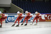 SCHAATSEN: HEERENVEEN: 01-10-2014, IJsstadion Thialf, Perspresentatie Team Corendon, ©foto Martin de Jong