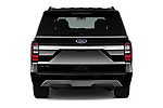 Straight rear view of a 2018 Ford Expedition XLT MAX 4x2 5 Door SUV stock images
