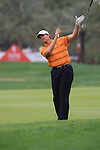 Retief Goosen playing his second shot on the 9th tee as he lets go of his club on day two of the Abu Dhabi HSBC Golf Championship 2011, at the Abu Dhabi golf club, UAE. 21/1/11..Picture Fran Caffrey/www.golffile.ie.