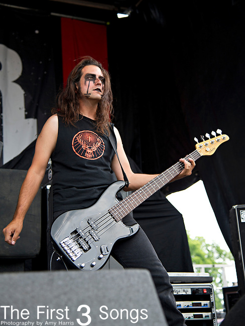 Jason Klein of Butcher Babies performs during the 2013 Mayhem Festival at Klipsch Music Center in Indianapolis, Indiana.