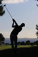 Matthew Jordan (ENG) on the 16th tee during Round 3 of the Challenge Tour Grand Final 2019 at Club de Golf Alcanada, Port d'Alcúdia, Mallorca, Spain on Saturday 9th November 2019.<br /> Picture:  Thos Caffrey / Golffile<br /> <br /> All photo usage must carry mandatory copyright credit (© Golffile | Thos Caffrey)