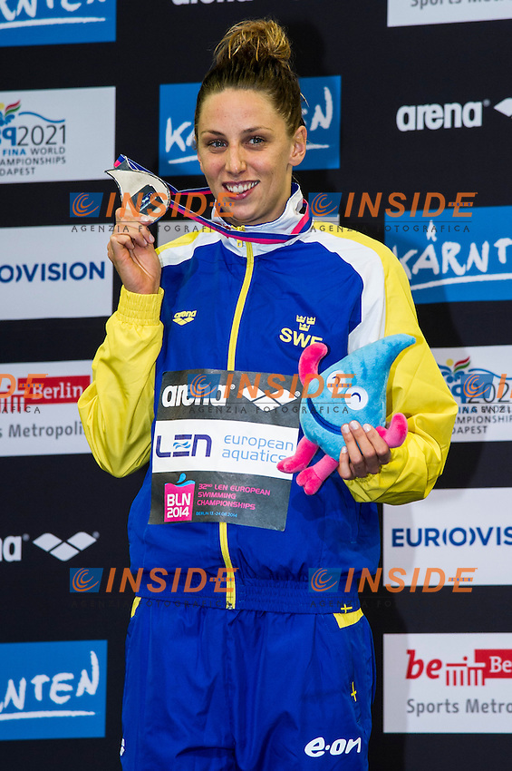 JOHANSSON Jennie SWE Silver Medal<br /> 100m Breaststroke Women Final<br /> 32nd LEN European Championships <br /> Berlin, Germany 2014  Aug.13 th - Aug. 24 th<br /> Day08 - Aug. 20<br /> Photo G. Scala/Deepbluemedia/Inside