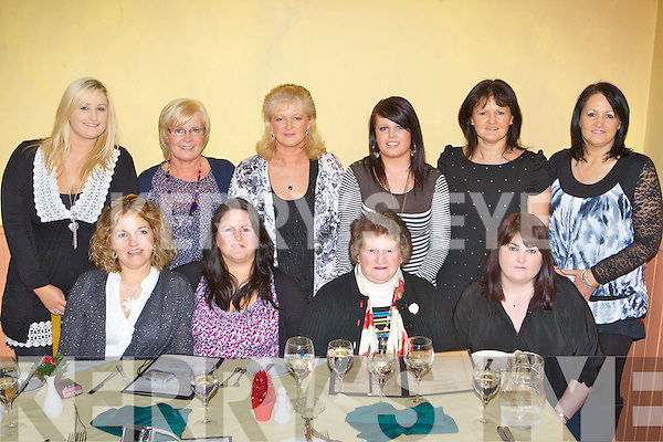 Ladies out celebrating small Christmas in Robertino's restaurant Killarney on Thursday night front row l-r: Mary Houlihan, Donna Burke, Eileen, Rosie O'Brien. Back row: Georgina Evans, Kathleen O'Brien, Margaret O'Connor, Caroline O'Brien, Eileen Courtney and Noreen Evans Castlemaine