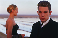 Gattaca (1997) <br /> Ethan Hawke &amp; Uma Thurman<br /> *Filmstill - Editorial Use Only*<br /> CAP/KFS<br /> Image supplied by Capital Pictures