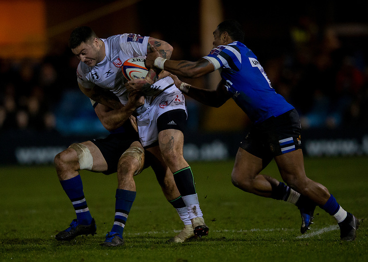 Gloucester's Matt Banahan in action during todays match<br /> <br /> Photographer Bob Bradford/CameraSport<br /> <br /> Gallagher Premiership - Bath Rugby v Gloucester Rugby - Monday 4th February 2019 - The Recreation Ground - Bath<br /> <br /> World Copyright &copy; 2019 CameraSport. All rights reserved. 43 Linden Ave. Countesthorpe. Leicester. England. LE8 5PG - Tel: +44 (0) 116 277 4147 - admin@camerasport.com - www.camerasport.com