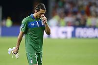 FUSSBALL  EUROPAMEISTERSCHAFT 2012   FINALE Spanien - Italien            01.07.2012 Torwart Gianluigi Buffon (Italien) ist nach dem Abpfiff enttaeuscht