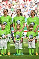 20170527 - KOELN , GERMANY : Wolfsburg's Tessa Wullaert (M) pictured during the final of German Women's Cup 2017 - Pokal Final Frauen , a soccer women game between SC Sand and holders VfL Wolfsburg  , at the Rhein Energie Stadion , saturday 27 th Mayl 2017 . PHOTO SPORTPIX.BE | DIRK VUYLSTEKE