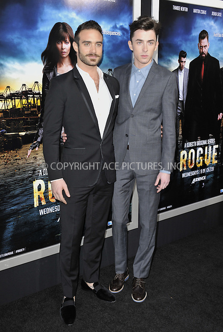 WWW.ACEPIXS.COM....March 26 2013, LA....Joshua Sasse and Matthew Beard arriving at the 'Rogue' Los Angeles premiere at ArcLight Hollywood on March 26, 2013 in Hollywood, California.....By Line: Peter West/ACE Pictures......ACE Pictures, Inc...tel: 646 769 0430..Email: info@acepixs.com..www.acepixs.com