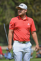Tyrell Hatton (ENG) after sinking his putt on 11 during round 2 of the World Golf Championships, Mexico, Club De Golf Chapultepec, Mexico City, Mexico. 3/2/2018.<br /> Picture: Golffile | Ken Murray<br /> <br /> <br /> All photo usage must carry mandatory copyright credit (&copy; Golffile | Ken Murray)