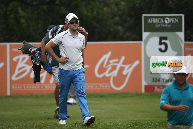 Maximilian  Kieffer (GER) heads off the 5th tee during Round One of The Africa Open 2014 at the East London Golf Club, Eastern Cape, South Africa. Picture:  David Lloyd / www.golffile.ie