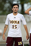 05 September 2015: Iona's Daniel Huerta (ESP). The Duke University Blue Devils hosted the Iona University Gaels at Koskinen Stadium in Durham, NC in a 2015 NCAA Division I Men's Soccer match. Duke won the game 2-1.