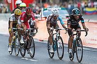 Chetout, Kennaaugh, Jauregui and Bouwman during the last stage or La Vuelta of Spain in Madrid. September 10, 2016. (ALTERPHOTOS/Rodrigo Jimenez) NORTEPHOTO.COM