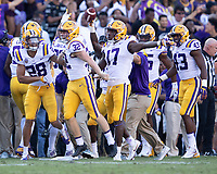 Baton Rouge, Louisiana - October 13, 2018: Tiger Stadium, the number 13 ranked Louisiana State University Tigers play the number 2 ranked University of Georgia Bulldogs.  Final score LSU 36, UGA 16.
