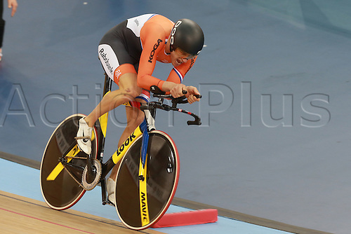 03.03.30216. Lee Valley Velo Centre, London England. UCI Track Cycling World Championships.  theo boss (ned)  silver medal in the Kilo TT