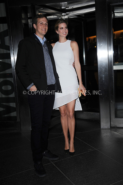 WWW.ACEPIXS.COM<br /> March 30, 2015 New York City<br /> <br /> Jared Kushner and Ivanka Trump attending Woman in Gold Screening at the MoMa on March 30, 2015 in New York City. <br /> <br /> By Line: Kristin Callahan/ACE Pictures<br /> ACE Pictures, Inc.<br /> tel: 646 769 0430<br /> Email: info@acepixs.com<br /> www.acepixs.com