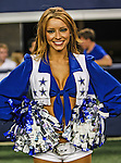 The Dallas Cowboys cheerleaders in action during the pre- season game between the St. Louis Rams and the Dallas Cowboys at the Cowboys Stadium in Arlington, Texas. Dallas defeats St. Louis  20 to 19.