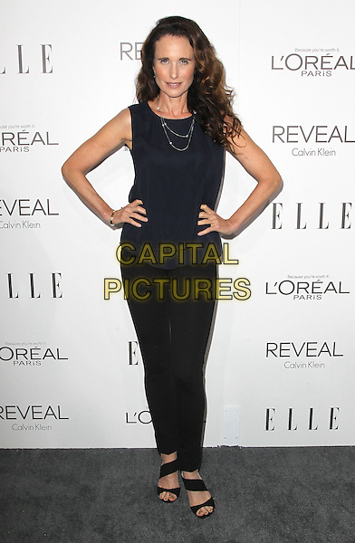 20 October  2014 - Beverly Hills, California - Andie MacDowell. 2014 ELLE Women In Hollywood Awards held at the Four Seasons Hotel.  <br /> CAP/ADM/FS<br /> &copy;Faye Sadou/AdMedia/Capital Pictures