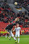 08.11.2018, BayArena, Leverkusen, Europaleque, Vorrunde, GER, UEFA EL, Bayer 04 Leverkusen (GER) vs. FC Zuerich (SUI),<br />  <br /> DFL regulations prohibit any use of photographs as image sequences and/or quasi-video<br /> <br /> im Bild / picture shows: <br /> Kopfball durch Tin Jedvaj (Leverkusen #16), <br /> <br /> Foto &copy; nordphoto / Meuter<br /> <br /> <br /> <br /> Foto &copy; nordphoto / Meuter
