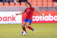 HOUSTON, TX - JANUARY 28: Melissa Herrera #7 of Costa Rica dribbles during a game between Costa Rica and Panama at BBVA Stadium on January 28, 2020 in Houston, Texas.