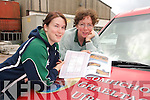 PLANNING: Debra Ni Shuilleabhain and Caitlin Breathnach from Comhchoiste Ghaeltachta Uibh Rathaigh with plans for a new office development in Ballinskelligs..