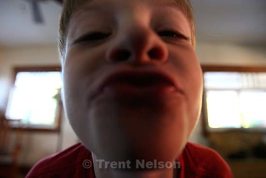 Nathaniel Nelson playing to the camera<br />
